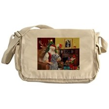 Santa's Deerhound Messenger Bag