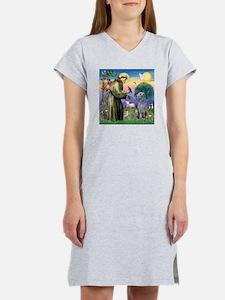 St Francis Deerhound Women's Nightshirt