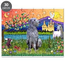 Deerhound in Fantasy Land Puzzle