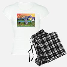 Deerhound in Fantasy Land Pajamas