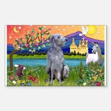 Deerhound in Fantasy Land Sticker (Rectangle)