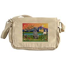 Deerhound in Fantasy Land Messenger Bag