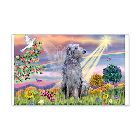 Cloud Angel & Deerhound 22x14 Wall Peel