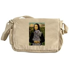 Mona & her Deerhound Messenger Bag