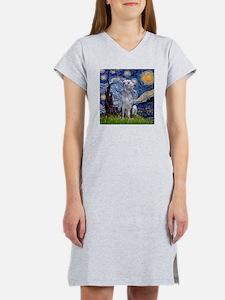 Starry Night/Scottish Deerhou Women's Nightshirt