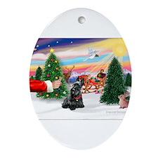 SantasTreat/Scottie #4 Ornament (Oval)