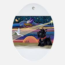 XmasStar/Scottie (#6) Ornament (Oval)