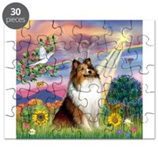 Cloud Angel Sheltie Puzzle