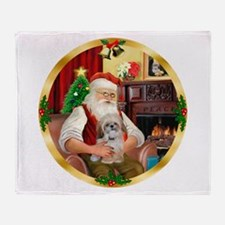 Santa's Shih Tzu (Paddy) Throw Blanket
