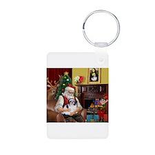 Santa's Shih Tzu (#1) Keychains
