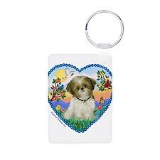 Shih Tzu in my heart (P) Keychains