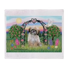 Rose Arbor Shih Tzu Throw Blanket