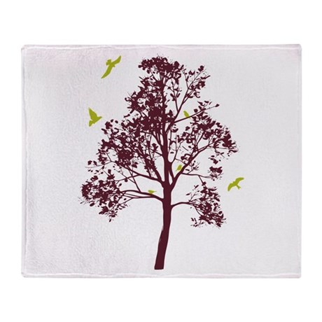 Home in the Branches Throw Blanket