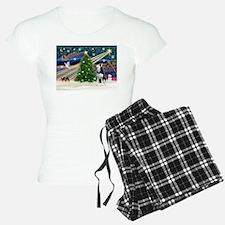 Xmas Magic/Siberian Husky 1 Pajamas
