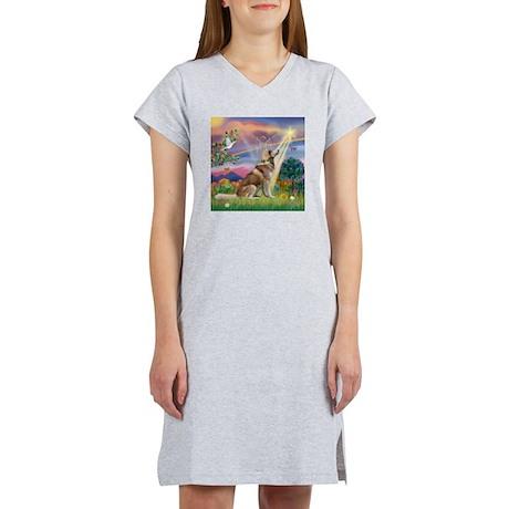 Cloud Angel & Husky Women's Nightshirt