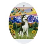 Mt Country & Husky Ornament (Oval)