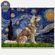 Starry Night & Husky Puzzle
