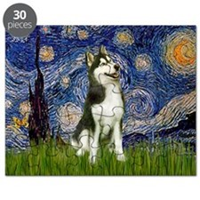 Starry Night & Husky Puzzle