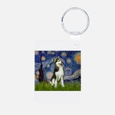 Starry Night & Husky Keychains