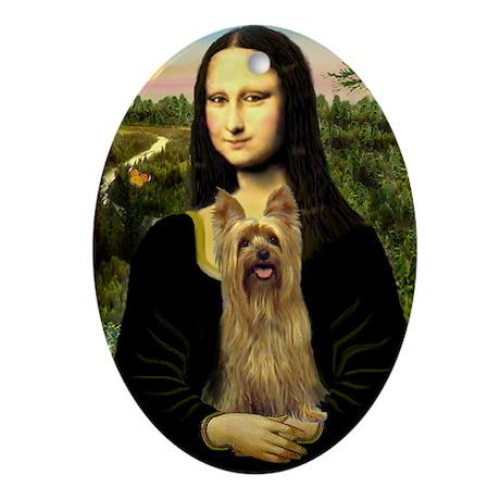 Mona's Silky Terrier Ornament (Oval)