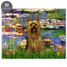 Lilies & Silky Terrier Puzzle
