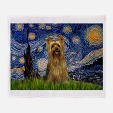 Starry Night Silky Terrier (B Throw Blanket
