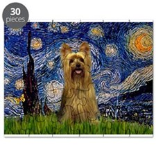 Starry Night Silky Terrier (B Puzzle
