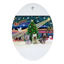 Xmas Magic & Skye Trio Ornament (Oval)