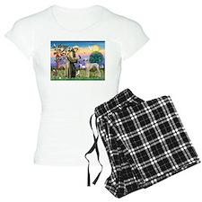 Saint Francis & Sloughi Pajamas