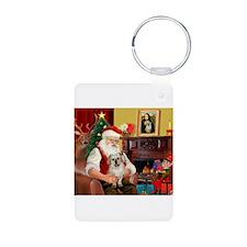 Santa/Tibetan Spaniel Keychains