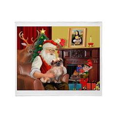 Santa's Tibetan Spaniel #4 Throw Blanket