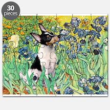 Irises & Toy Fox Terrier Puzzle