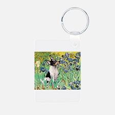 Irises & Toy Fox Terrier Keychains