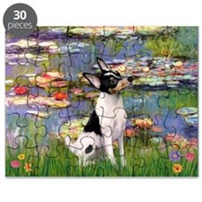 Lilies & Toy Fox Terier Puzzle
