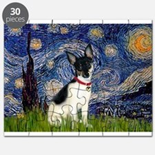 Starry Night & Toy Fox Terrie Puzzle