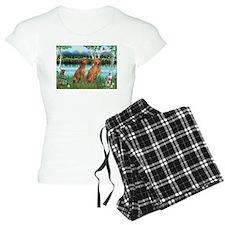 Birches / Vizsla pair Pajamas