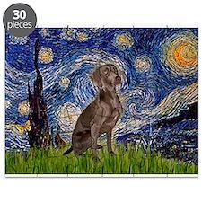 Starry Night & Weimaraner (Nv Puzzle