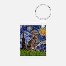 Starry Night & Weimaraner (Nv Aluminum Photo K