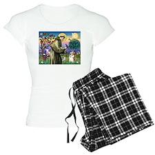St Francis /Welsh Corgi (p) Pajamas
