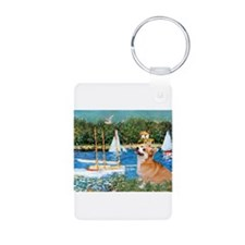 Monet's Sailboats Keychains