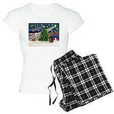 Xmas Magic & Welsh Terrier Pajamas