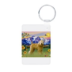 Wheaten in Mt. Country Keychains