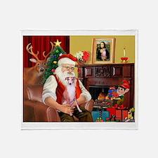 Santa's Whippet (#7) Throw Blanket