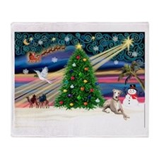 Xmas Magic/Whippet (#2) Throw Blanket