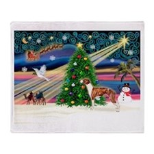 Xmas Magic / Whippet (#1) Throw Blanket