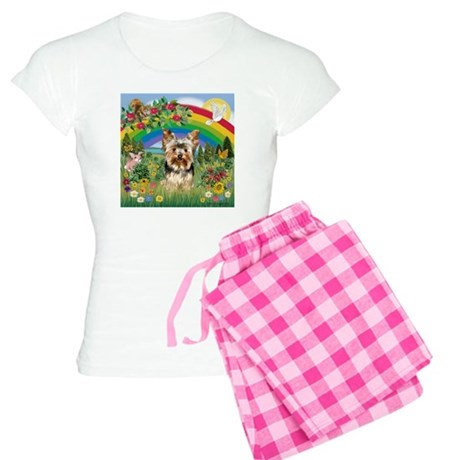 Rainbow/Yorkie (#7) Women's Light Pajamas