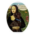 Mona's Chocolate Lab (TH) Ornament (Oval)