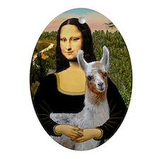 Mona's Baby Llama Ornament (Oval)
