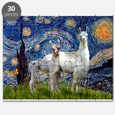 Starry Night Llama Duo Puzzle