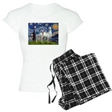 Starry Night Llama Duo Pajamas